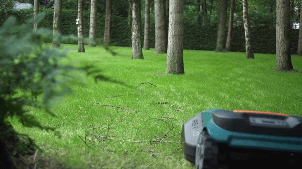 Robomow RS630 cutting grass